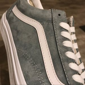 7a19cce2d4 Vans Shoes - New Vans Old Skool Stormy Grey   White Pig Suede
